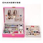 1pcs <b>Fashion</b> Leather <b>Jewelry</b> Box Storage Case,<b>Jewelry</b> Container Cases Boxes Sweet Gift,Large Capacity DIY Grid <b>Jewelry</b> Box