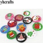 6PCS/LOT,4cm christmas badge Students reward Fashion button Team logo X'mas goody bag.X'mas gift bags Home <b>decor</b>.OEM wholesale