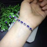 natural blue tanzanite <b>Bracelet</b> Natural gemstone <b>bracelet</b> S925 <b>silver</b> fashion luxurious Elegant round women party fine jewelry