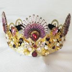 Luxurious Sparkling Gold Crystal Baroque Queen Wedding Tiara Crown Pageant Prom Diadem Headpiece Bridal Hair <b>Jewelry</b> accessorie