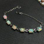 opal gemstone <b>bracelet</b> in 925 sterling <b>silver</b> fine jewelry for women as gift