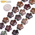 Gem-inside 15mm Natural Rhodonite Rose Plumeria Ocean Agates Flower Shape Stone Beads For <b>Jewelry</b> <b>Making</b> DIY 15inches