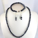 Discount!! black pearl necklace suit 7-8mm necklace 18″bracelet 7.5″ earring 2pc/lot women customized <b>jewelry</b> <b>making</b> design gift