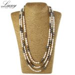 Long natural freshwater pearl neckalce women 190cm-200cm,fashion multilayer real pearl <b>necklace</b> fine jewelry mother present