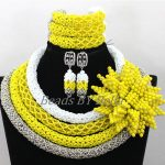 Latest <b>Handmade</b> Flowers Brooch African Crystal Bridal <b>Jewelry</b> Sets Chunky Necklace Nigerian Wedding <b>Jewelry</b> Free Shipping ABK553