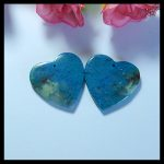 Natural Stone heart shape Blue Apatite <b>fashion</b> woman Earring Beads,27x4mm,10.1g