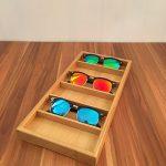 Bamboo glasses display box Storage case retro trend Fashion high-end glasses display <b>supplies</b> 6slots