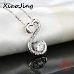 2018 hot sale 925 sterling silver infinity pendant chain necklace with Cubic Zircon diy fashion <b>jewelry</b> factory <b>supply</b> girl gift