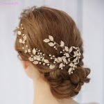 Jonnafe 2018 Boho Gold Leaf Women Hair Vine Bridal Headband Pearls Hair <b>Jewelry</b> Wedding Crown Accessories Handmade