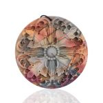 Birthday present,<b>Jewelry</b> stone Multi-Color Picasso Jasper <b>Fashion</b> gemstone pendant bead,50x50x4mm,17.4g