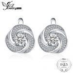 JewelryPalace luxury 2ct Cubic Zirconia Hoop Earrings Soild 925 Sterling Silver <b>Jewelry</b> <b>Fashion</b> Earrings For Women Birthday Gift