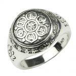 Authentic 925 Sterling Silver <b>Jewelry</b> Vintage Buddha Six Words' Mantra Rings For Women And Men Bijouterie Fine