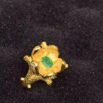 Natural green emerald Ring Natural gemstone ring 925 <b>sterling</b> <b>silver</b> trendy Elegant Heavy tree pier women party gift <b>Jewelry</b>