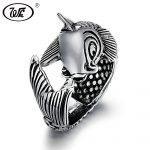 WK Genuine 925 Sterling Silver Thai <b>Handmade</b> Vivid Carp Fish Animal Ring Men Women Big Retro Antique Rings <b>Jewelry</b> 2018 W2 RF023