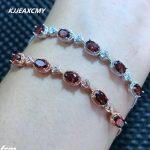 KJJEAXCMY Fine jewelry 925 Sterling <b>Silver</b> Natural Garnet <b>Bracelet</b> for sale, manufacturing professional wholesale