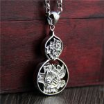 Pendant <b>Necklace</b> Gourd Lotus Hollow Carving 100% Real 925 Sterling <b>Silver</b> Retro Vintage Ethnic Buddha Mantra Jewelry Boeddha