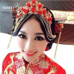 HIMSTORY Vintage Chinese Traditional <b>Wedding</b> <b>Jewelry</b> Adorn Hair Accessories Queen Hanfu Fine Pageant Phoenix Coronet Tiaras