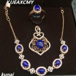 KJJEAXCMY Fine jewelry, 925 <b>silver</b> inlaid lapis lazuli women's set, simple and generous wholesale