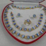 word Fine Jewelry gem Quartz stone Gem Real opal stone necklace & <b>Bracelet</b> & Earring & Ring Set Lovely woman's gift