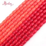 7x10mm Smooth Column Orange Coral Beads Natural Stone Beads For DIY Necklace Bracelets Pandant <b>Jewelry</b> <b>Making</b> 15″ Free Shipping
