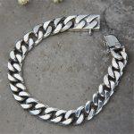 Miami Cuban Chain <b>Bracelet</b> Men 925 Sterling <b>Silver</b> Curb Chain Link <b>Bracelet</b> Biker Hippie Hip Hop Men Jewelry Party Gifts