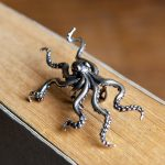 UMGODLY Retro Punk Deep Sea Big Octopus Ear Clip S925 Sterling <b>Silver</b> Hyperbole Earrings Non Perforated Women <b>Jewelry</b>