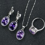 New Pattern Zircon Jewelery Sets High Quality Necklace Ring Earrings Women/Grils Luxurious Gift Party <b>Accessories</b> Hot Sell