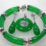 real Women's Wedding shipping>> 3color-2 row green colorful gem bless bracelet earring pendant/ring set