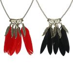Feather Tassel Long Necklaces for Women Boho Hollow Out Necklace <b>Native</b> <b>American</b> Indian Style Vintage Feather Necklaces <b>Jewelry</b>