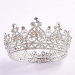 Crystal Queen Crown Wedding Full Circle Pageant Tiara bride Crown Rhinestones Princess Tiara Bridal Crown Headband hair <b>jewelry</b>
