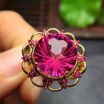 Gold Round Cut 10mm Swiss red Topaz Engagement Wedding Ring Fine Gemstone Diamonds <b>Jewelry</b> Ring