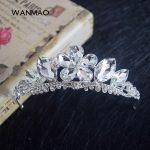 High-end bride crown tiara atmosphere princess crown <b>wedding</b> <b>wedding</b> hair accessories women's <b>jewelry</b> HD425