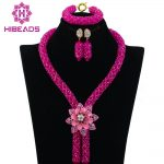 Fuchsia African Beads <b>Jewelry</b> Set 2017 Nigerian Wedding African Beads for Brides Party Bridal <b>Jewelry</b> Set Free Shipping ABK726