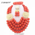 Splendid African Beads <b>Jewelry</b> Sets Nigerian Wedding African Coral Beads <b>Jewelry</b> Set L1257