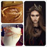 Baroque crowns gold leaf headband hair <b>jewelry</b> wedding hair accessories princess tiara <b>Handmade</b> Bridal Headpiece Headbands