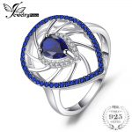 JewelryPalace 1.3ct Pear Shape Created Sapphire & Blue Spinel Exaggerated Party Rings For Women 925 Sterling <b>Silver</b> Fine <b>Jewelry</b>