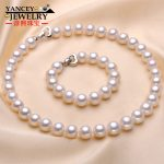 Natural AAA level 10.5-11mm Big white freshwater pearl fine jewelry sets, Round Pearls with S925 <b>Silver</b>, Give <b>Earrings</b> for gift