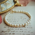 Customize Natural Pearl Bracelet <b>Handmade</b> Personalized Gold Wrap Fillde Bangles Vintage Simple Party <b>Jewelry</b> Bracelet for Women