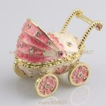 2016 New Baby Carriage Trinket Box Baby Toy Collective Gift Box Baby Carriage <b>Jewelry</b> Box Car Shape Pill Box Ring Holder