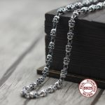 S925 Men's Sterling <b>Silver</b> <b>Necklace</b> Personality classics Simple and generous retro series Skeleton modeling chain Send a gift