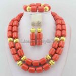 Nigerian Wedding African Coral Beads Jewelry Set African Coral Jewelry Sets Beads Free Shipping HD6132