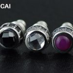 925 pure <b>silver</b> gem thai <b>silver</b> round stud <b>earring</b>