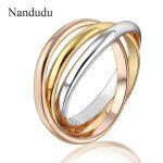 Nandudu 3-in-1 Ring Three Colors Special Design New Fashion Women Female Rings <b>Jewelry</b> Gift <b>Accessories</b> R1433