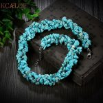 KCALOE Blue Stones Statement Necklace Bohemian <b>Jewelry</b> Women <b>Accessories</b> Fashion Natural Stone Chunky Necklace Collares Etnicos