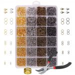 3142PCS/Set <b>Jewelry</b> <b>Making</b> Kit with Open Jump Rings, Lobster Clasps, Open Ring, Bent Chain Plier