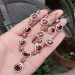 KJJEAXCMY Natural garnet set inlaid jewelry wholesale S925 <b>silver</b> jewelry
