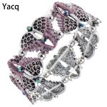 YACQ Angel Wings Stretch Bracelet Bangle Women Biker Crystal Punk <b>Jewelry</b> Gifts for Her Wife Mom Girls Guardian Dropshipping D10