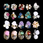 100pcs Roses Flowers 3D NAIL ART <b>JEWELLERY</b> NAIL CHARMS <b>DECORATIONS</b> ACCESORIES – PINK WHITE FLOWER 3241-3260