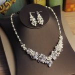 Jonnafe Generous Silver Rhinestone <b>Jewelry</b> Set Necklace Earrings <b>Handmade</b> Pearl wedding <b>Jewelry</b> Sets For Bride With Hair <b>Jewelry</b>