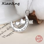 100% 925 sterling silver I love you to the moon and back pendant necklace diy European fashion <b>jewelry</b> <b>making</b> for omen gifts